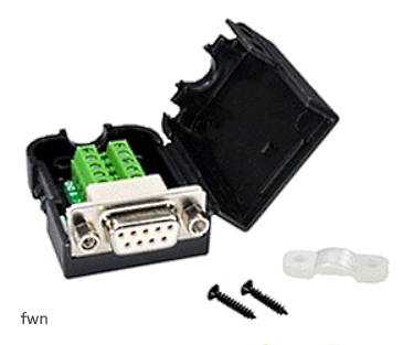 A03 Adapter DB9 Female with Nut To 9 Pin Terminal Block
