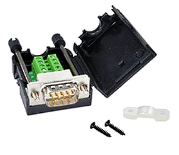 A02 Adapter DB9 męski ze śrubą do zacisku śrubowego 9 pin